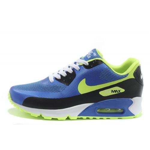Nike Air Max 90 Hyperfuse Blue Green мужские АирМаксы