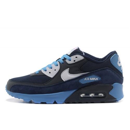 Nike Air Max 90 Black Blue мужские АирМаксы