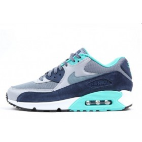Nike Air Max 90 Essential Blue Graphite Wolf Grey мужские кроссовки