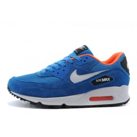 Nike Air Max 90 Essential Dark Electric Blue Light Stone Anthracite мужские кроссовки