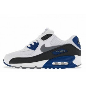 Nike Air Max 90 Essential White Blue мужские кроссовки