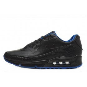 Nike Air Max 90 First Leather Black Blue мужские кроссовки