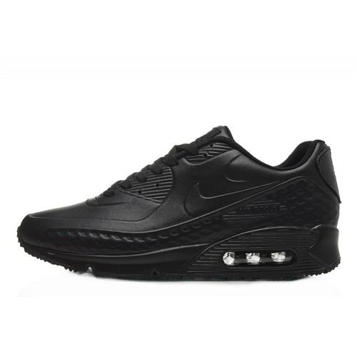 Nike Air Max 90 First Leather Black мужские АирМаксы