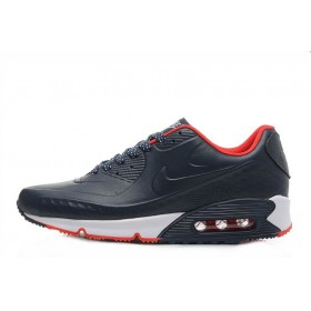 Nike Air Max 90 First Leather Blue Red мужские кроссовки