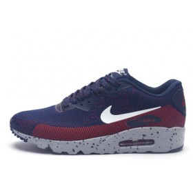 Nike Air Max 90 MD Flyknit Navy Red мужские кроссовки