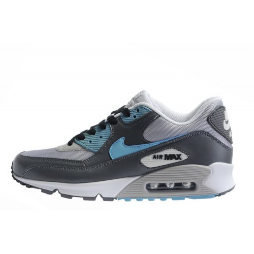 Nike Air Max 90 Grey Turquoise мужские АирМаксы