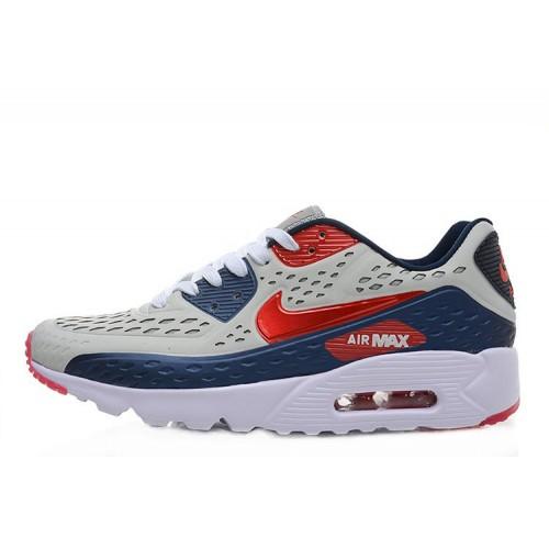 Nike Air Max 90 Ultra BR Blue Burgundy мужские кроссовки