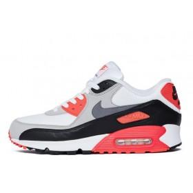Nike Air Max 90 White Black Red мужские кроссовки