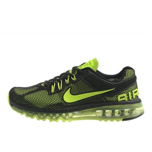 Nike Air Max 2013 GL Black Green мужские АирМаксы