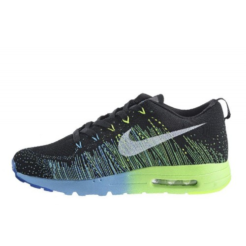 Nike Flyknit Max Running Green Blue мужские АирМаксы