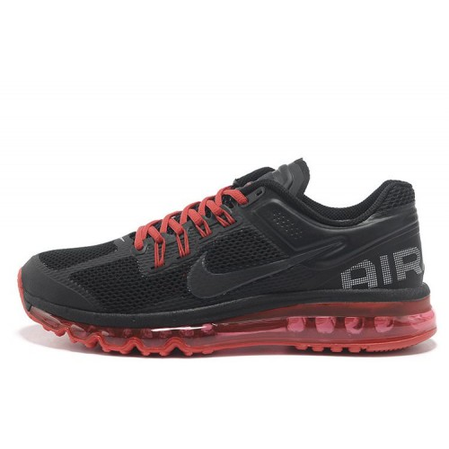 Nike Air Max 2013 Black Red мужские АирМаксы