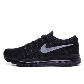 Nike Flyknit Air Max Black мужские кроссовки