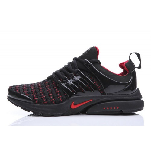 Nike Air Presto Flyknit Weaving Black Red мужские кроссовки