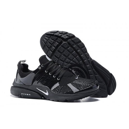 Nike Air Presto Flyknit Black Grey мужские кроссовки