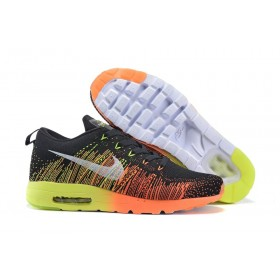 Nike Flyknit Max Running Orange Yellow мужские кроссовки