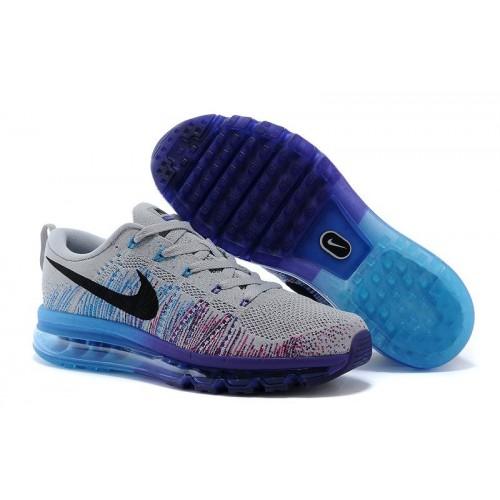 Nike Flyknit Air Max Grey Black Purple Blue мужские АирМаксы