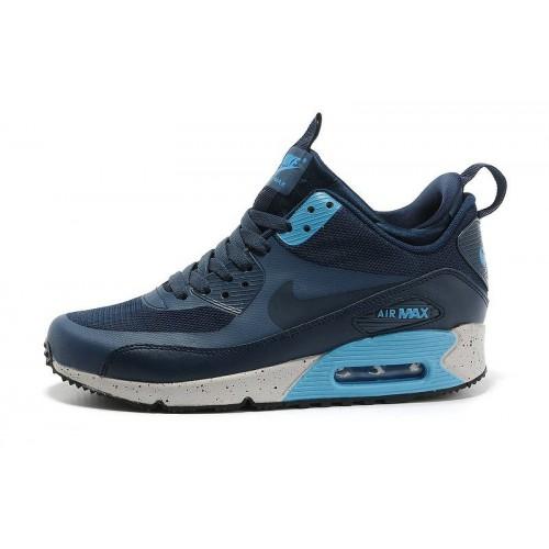 Nike Air Max Sneakerboot Blue Navi мужские кроссовки