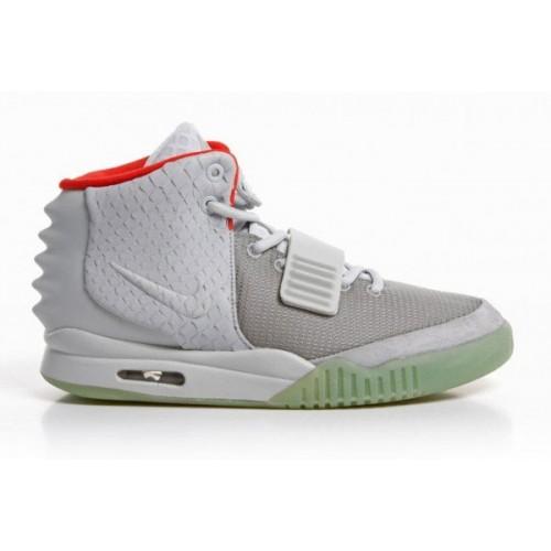 Nike Air Yeezy 2 Wolf Grey/Pure Platinum мужские кроссовки