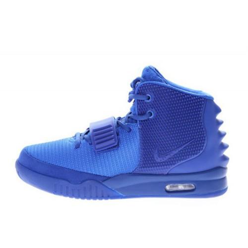 Nike Air Yeezy 2 All Blue мужские кроссовки