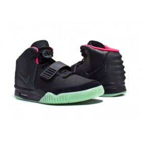 Nike Air Yeezy 2 Black Green Red женские кроссовки