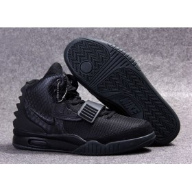 Nike Air Yeezy 2 Pure Black мужские кроссовки