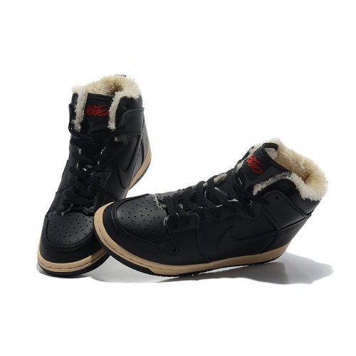 af1cf77d Nike Dunk High Fur Black купить мужские кроссовки Nike в Киеве, цены ...