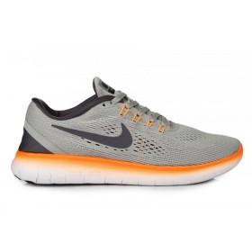 Nike Free Run Flyknit V.1 Grey Orange мужские кроссовки