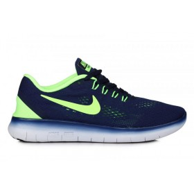 Nike Free Run Flyknit V.1 Blue Green мужские кроссовки