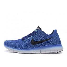 Nike Free Run Flyknit Blue мужские кроссовки