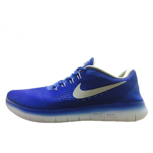 Nike Free Run Flyknit V.1 Blue White мужские кроссовки