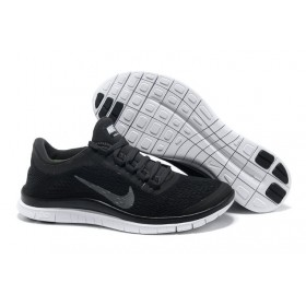 Nike Free Run 3.0 V5 Mens Black Reflect Silver мужские кроссовки