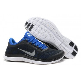 Nike Free Run 3.0 V5 Mens Black Royal Blue мужские кроссовки