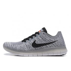 Nike Free Run Flyknit Light Grey White мужские кроссовки
