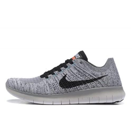 Nike Free Run Flyknit Light Grey White мужские кроссовки