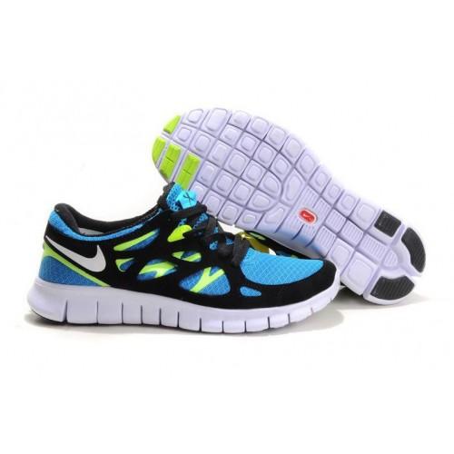 01a10661 Nike Free Run Plus 2 Black Green мужские кроссовки Найк купить в ...