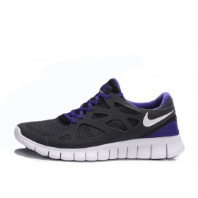 Nike Free Run Plus 2 Black Purple мужские кроссовки