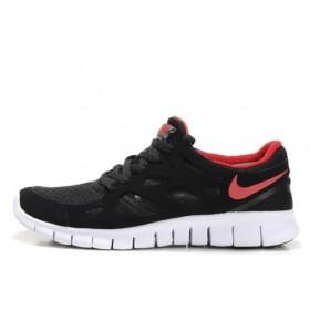 Nike Free Run Plus 2 Black Red мужские кроссовки