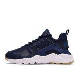 Nike Air Huarache Run Ultra SI Leather Blue мужские кроссовки