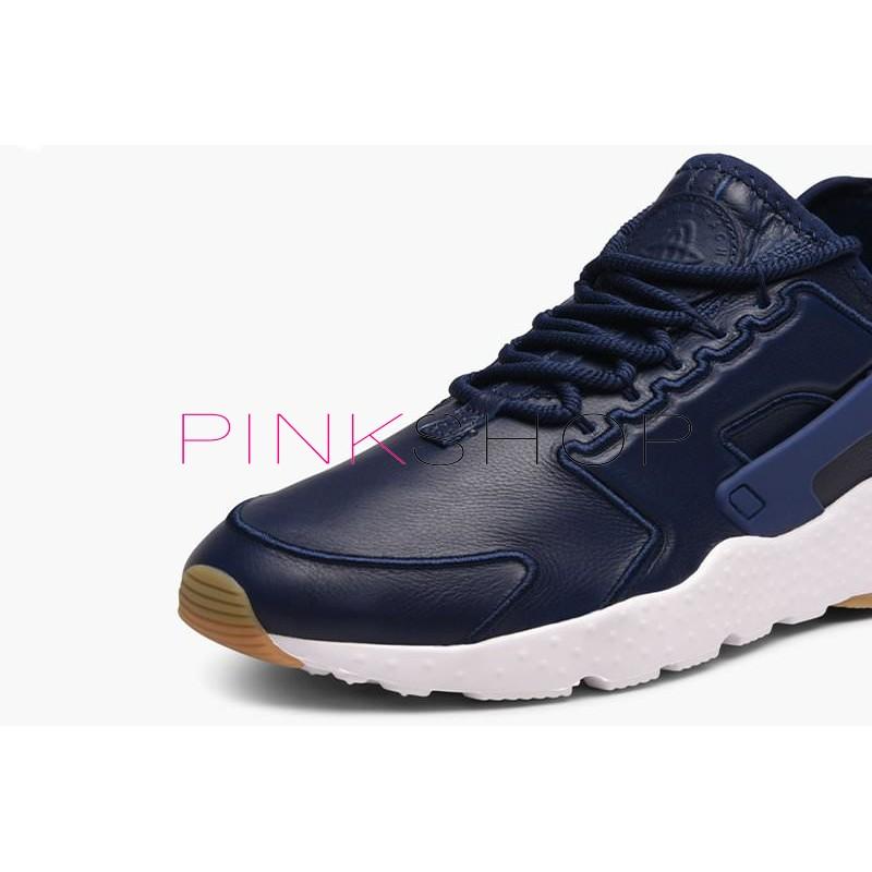 7a723362 Nike Air Huarache Run Ultra SI Leather Blue купить мужские кроссоки ...