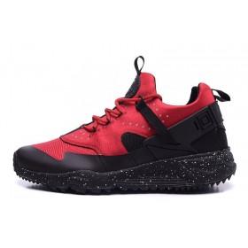 Nike Huarache Utility Black Red мужские кроссовки