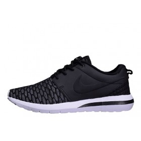 Nike Roshe Run 3M Flyknit Black мужские кроссовки