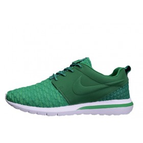 Nike Roshe Run 3M Flyknit All Green мужские кроссовки