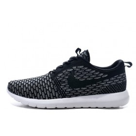 Nike Roshe Run Flyknit London Black мужские кроссовки
