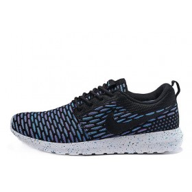 Nike Roshe Run Flyknit London Blue мужские кроссовки