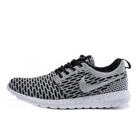 Nike Roshe Run Flyknit London Grey мужские кроссовки