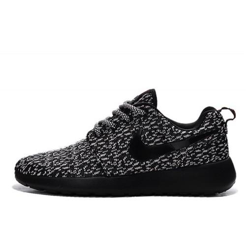 Nike Roshe Run Flyknit Turtle Black мужские кроссовки