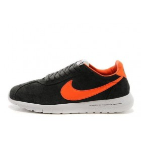 Nike Roshe Run FRGMT Carbon Grey Orange мужские кроссовки