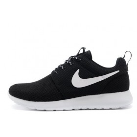 Nike Roshe Run II Black White мужские кроссовки
