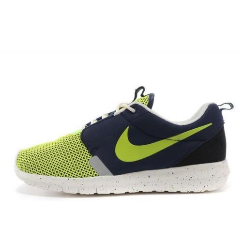 Nike Roshe Run NM BR Blue Green мужские кроссовки