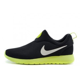 Nike Roshe Run Slip On GPX Black Green мужские кроссовки